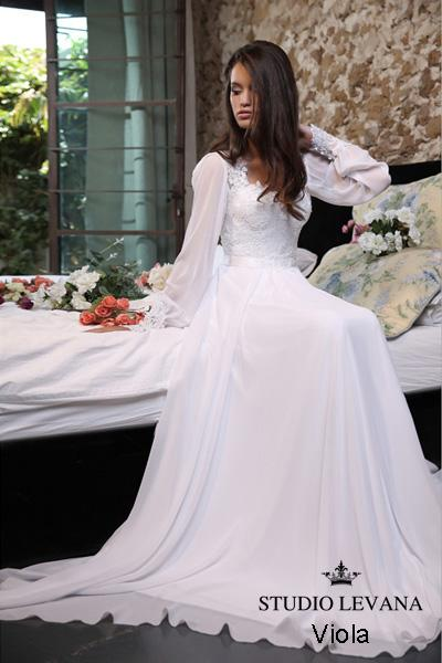 Modest wedding gown Pastel collection  (1)