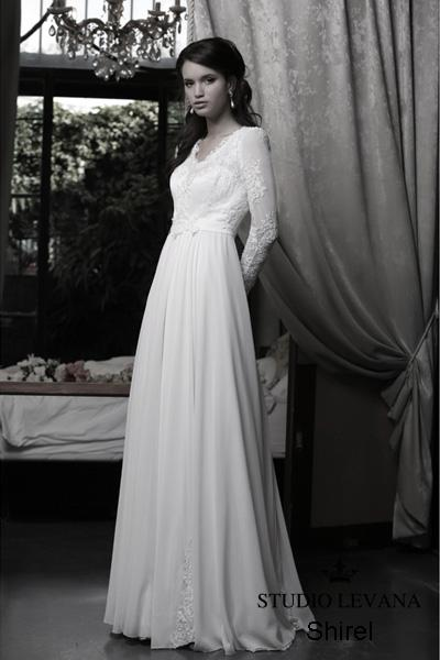 Modest wedding gown Pastel collection  (13)