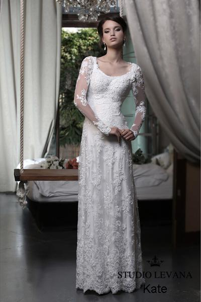 Modest wedding gown Pastel collection  (16)