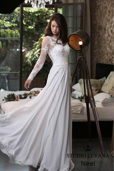 Modest wedding gown Pastel collection  (7)
