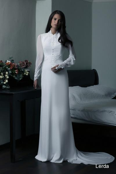 Modest wedding gowns 2015 lerda (3)