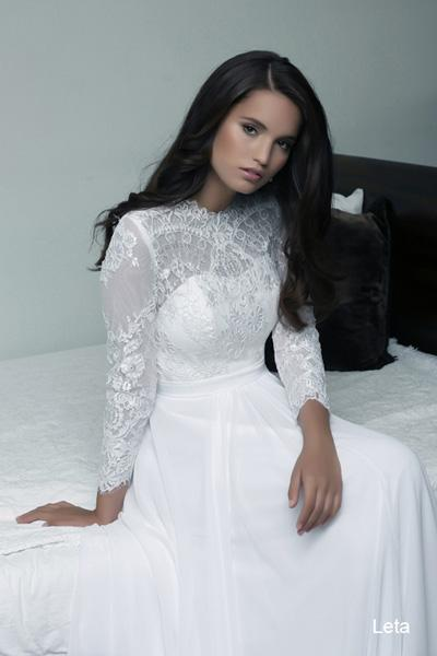 Modest wedding gowns 2015 leta (2)