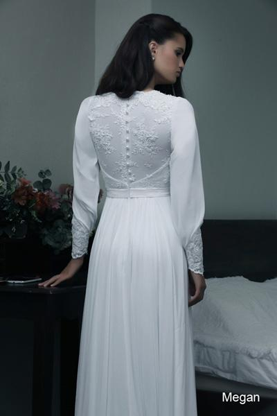 Modest wedding gowns 2015 magan (2)