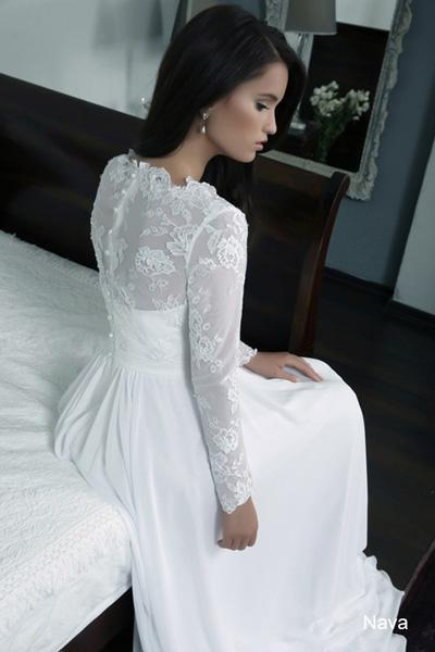 Modest wedding gowns 2015 nava (1)