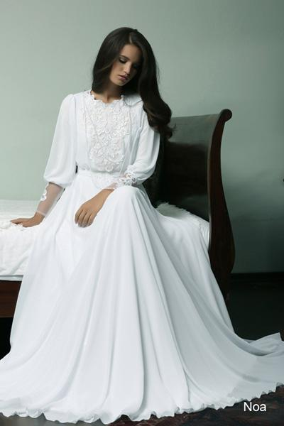 Modest wedding gowns 2015 noa (3)