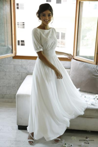 Modest wedding gowns 2016 tina (3)