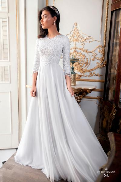 Modest wedding gowns 2017 orit (3)