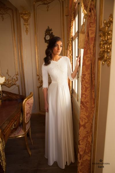 Modest wedding gowns 2017 sarit (2)