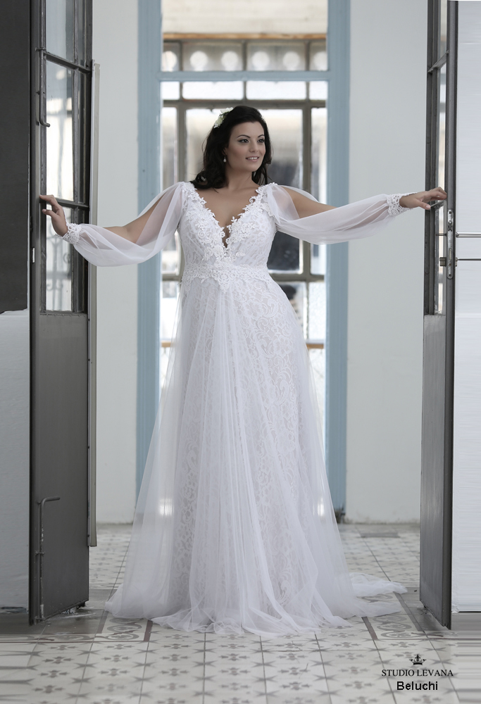 Curvy wedding gowns- blue collection | Wedding gowns- Studio Levana