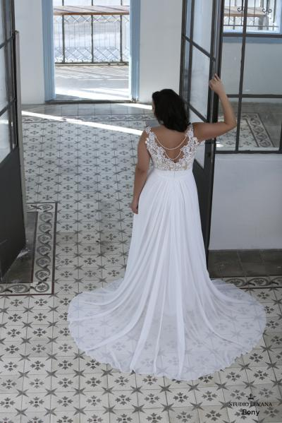 Plus size wedding gown-Blue  (1)Bony (2)