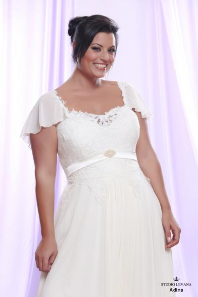 Plus size wedding gown White collection Adina (2)