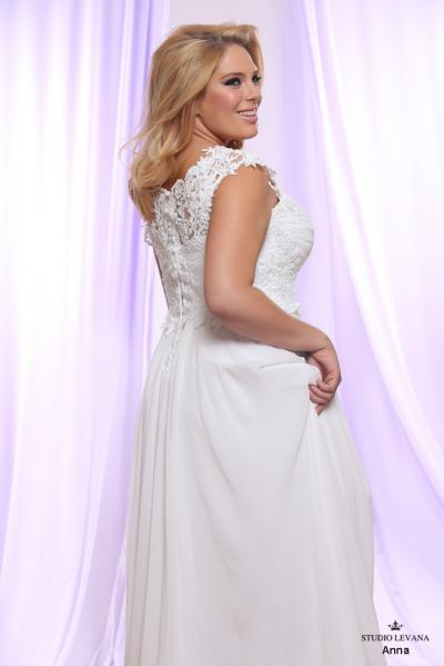 Plus size wedding gown White collection Anna (1)