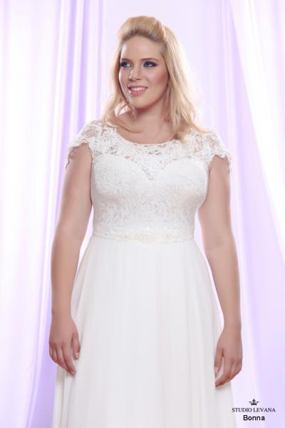 Plus size wedding gown White collection Bonna (1)