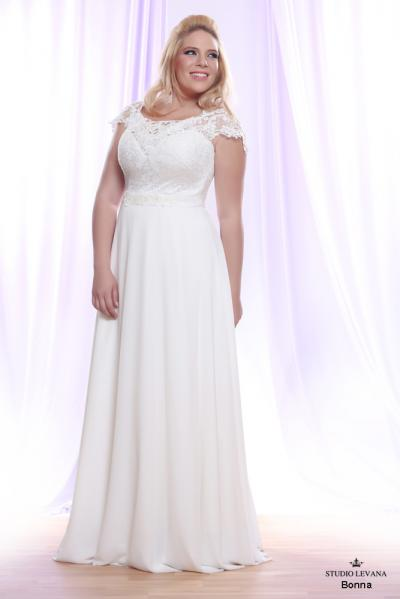 Plus size wedding gown White collection Bonna (2)