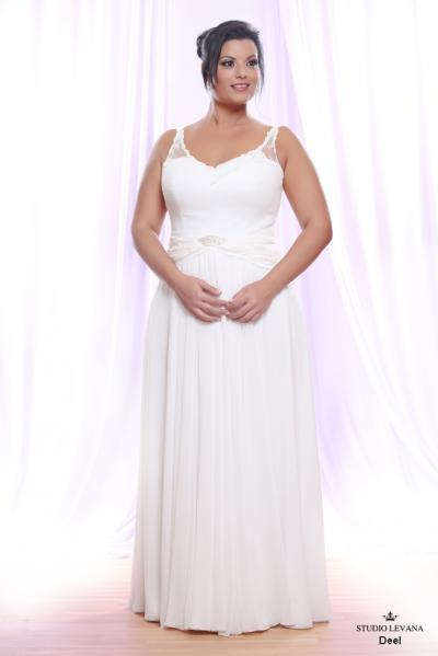 Plus size wedding gown White collection Deel (2)