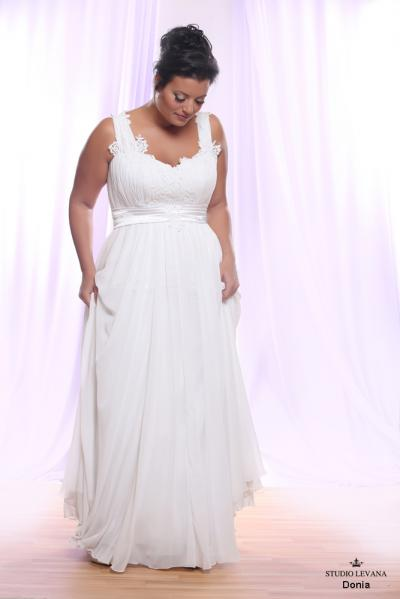 Plus size wedding gown White collection Donia (1)