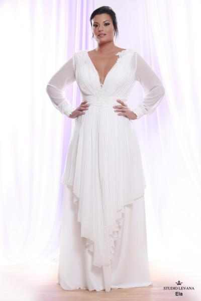 Plus size wedding gown White collection Ela (2)