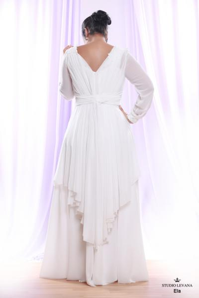 Plus size wedding gown White collection Ela (4)