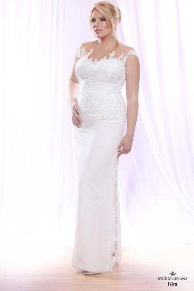 Plus size wedding gown White collection Kira (1)