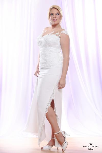 Plus size wedding gown White collection Kira (2)