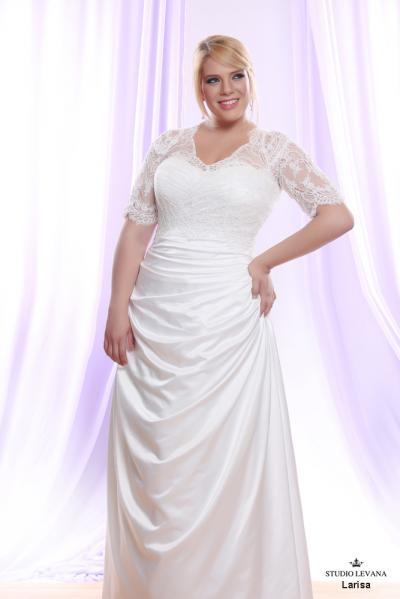 Plus size wedding gown White collection Larisa