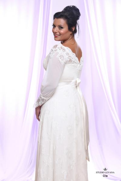 Plus size wedding gown White collection Ola (2)
