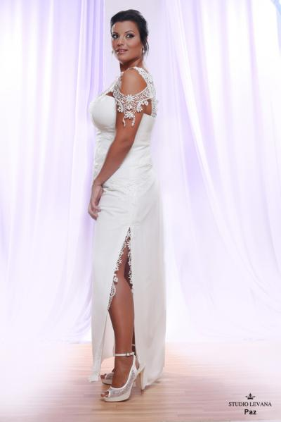 Plus size wedding gown White collection Paz (2)