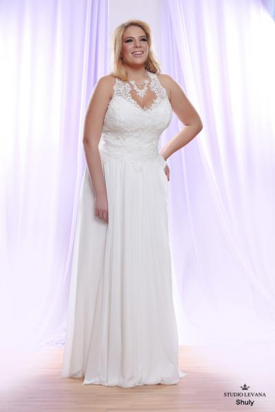 Plus size wedding gown White collection Shuly (1)