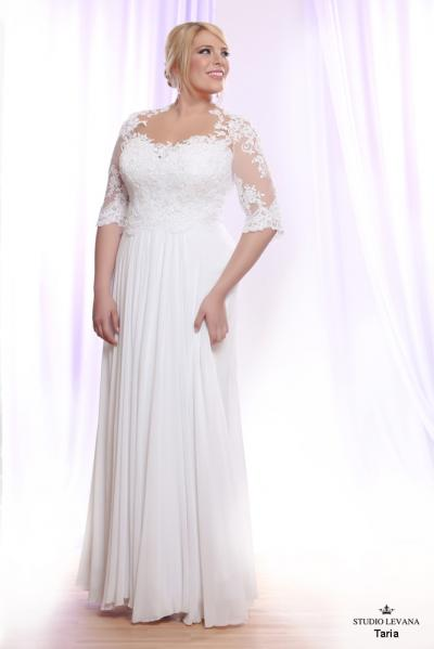 Plus size wedding gown White collection Taria (2)