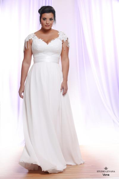 Plus size wedding gown White collection Vona (1)