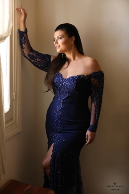 Plus size oscar evening gown Ivonna (1)