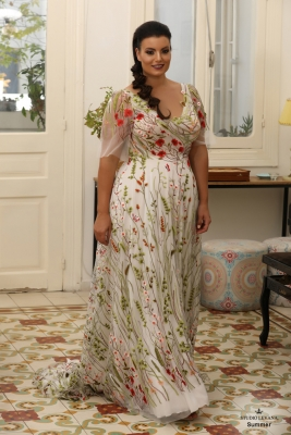 Plus size oscar evening gown Summer