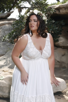 Plus size boho wedding dress Alena-(2)