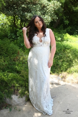 Plus size boho wedding dress Chiara-(1)