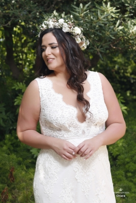 Plus size boho wedding dress Chiara-(3)