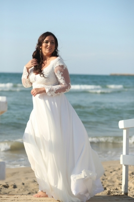 Plus size boho wedding dress Dalia-(1)
