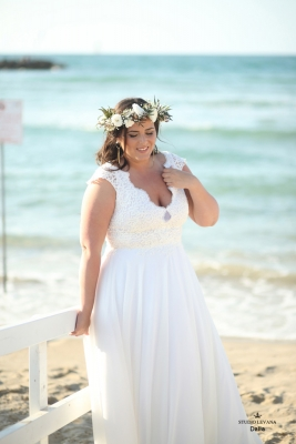 Plus size boho wedding dress Dalia-(2)