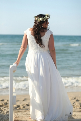 Plus size boho wedding dress Dalia-(3)