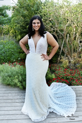 Plus size boho wedding dress Dawn-(1)
