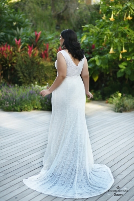Plus size boho wedding dress Dawn-(2)