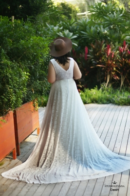 Plus size boho wedding dress Dawn-(3)