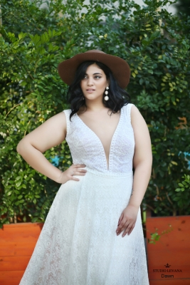 Plus size boho wedding dress Dawn-(4)