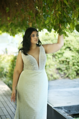 Plus size boho wedding dress Dawn-(6)