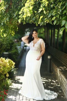 Plus size boho wedding dress John-(1)
