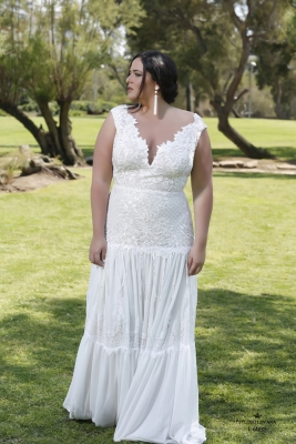 Plus size boho wedding dress Lotem-(1)