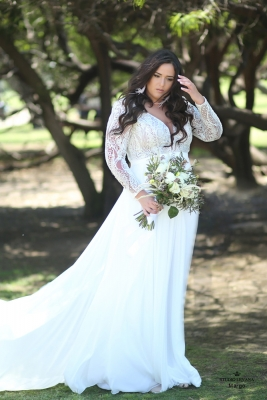 Plus size boho wedding dress Margo-(1)