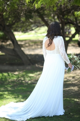 Plus size boho wedding dress Margo-(2)