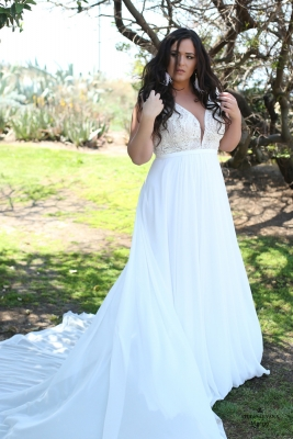 Plus size boho wedding dress Margo-(3)