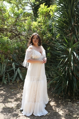 Plus size boho wedding dress Masha-(1)