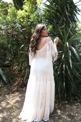Plus size boho wedding dress Masha-(2)